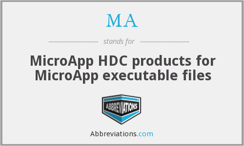 MA - MicroApp HDC products for MicroApp executable files