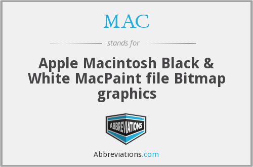 MAC - Apple Macintosh Black & White MacPaint file Bitmap graphics