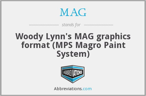 MAG - Woody Lynn's MAG graphics format (MPS Magro Paint System)