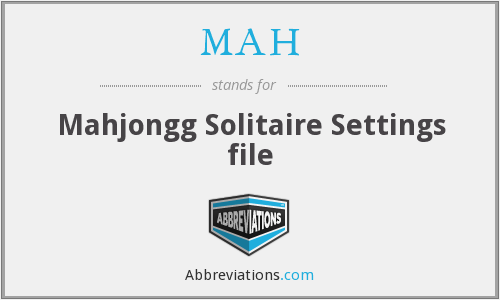 MAH - Mahjongg Solitaire Settings file
