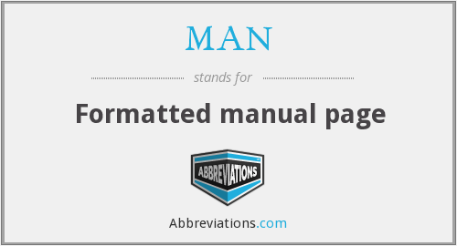 MAN - Formatted manual page
