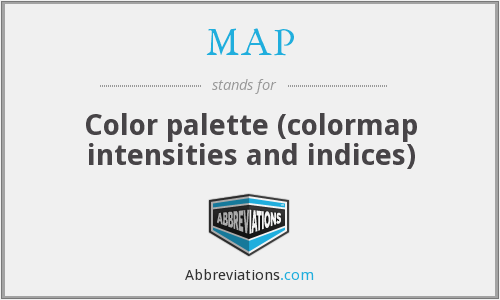MAP - Color palette (colormap intensities and indices)