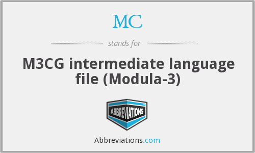 MC - M3CG intermediate language file (Modula-3)