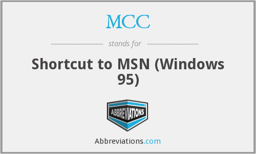 MCC - Shortcut to MSN (Windows 95)