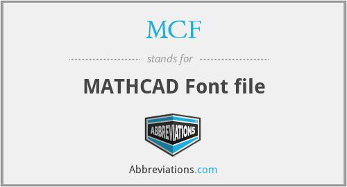 MCF - MATHCAD Font file