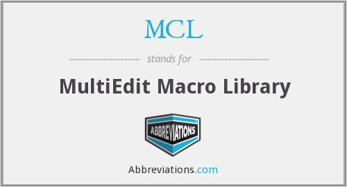 MCL - Macro library (MultiEdit)