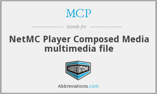 MCP - NetMC Player Composed Media multimedia file