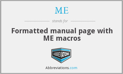 ME - Formatted manual page with ME macros