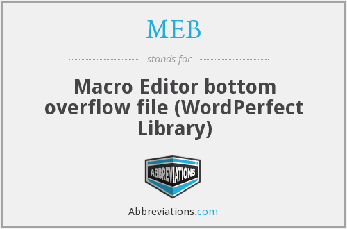 MEB - Macro Editor bottom overflow file (WordPerfect Library)