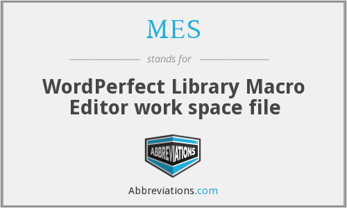 MES - WordPerfect Library Macro Editor work space file