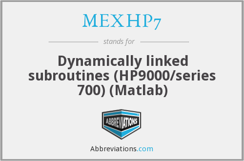 What does MEXHP7 stand for?