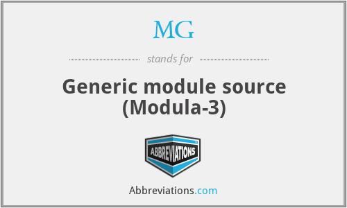 MG - Generic module source (Modula-3)