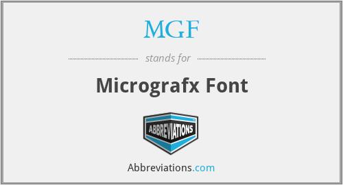 MGF - Micrografx Font