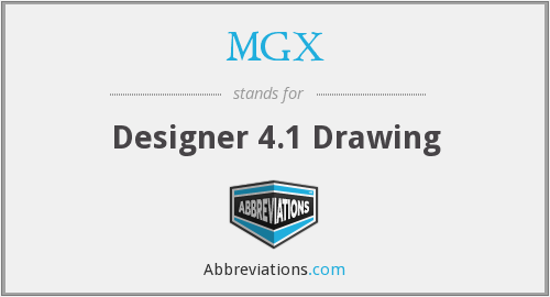 MGX - Designer 4.1 Drawing