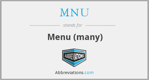 MNU - Menu (many)