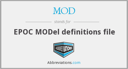 MOD - Model definitions (EPOC)