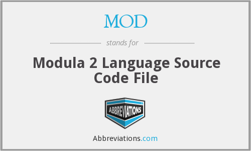 MOD - Modula 2 Language Source Code File