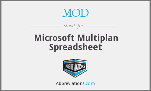 MOD - Microsoft Multiplan Spreadsheet