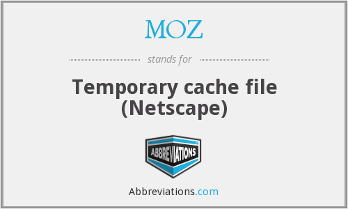 MOZ - Temporary cache file (Netscape)