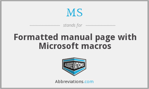 MS - Formatted manual page with Microsoft macros