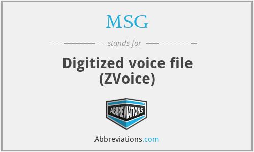 MSG - Digitized voice file (ZVoice)