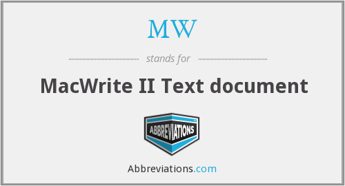 MW - MacWrite II Text document