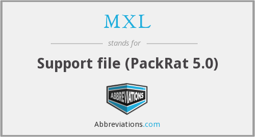 MXL - Support file (PackRat 5.0)