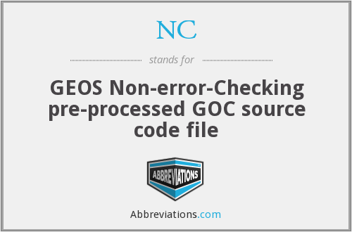 NC - GEOS Non-error-Checking pre-processed GOC source code file