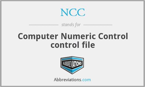 NCC - Computer Numeric Control control file