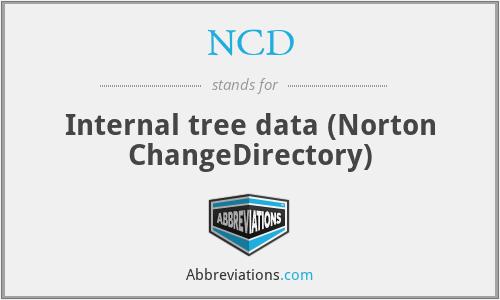NCD - Internal tree data (Norton ChangeDirectory)