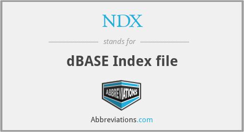 NDX - dBASE Index file