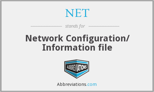 What does NET stand for?