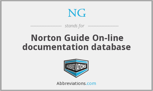 NG - Norton Guide On-line documentation database