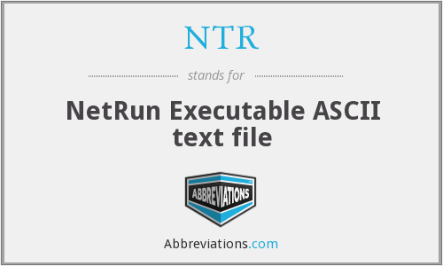 NTR - NetRun Executable ASCII text file