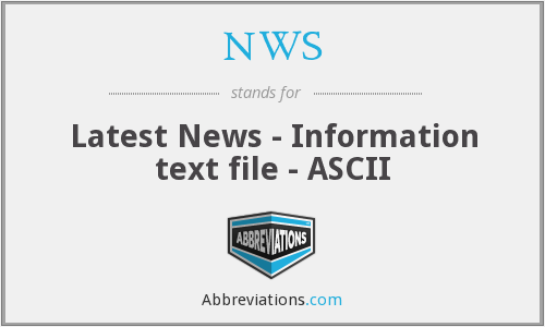 NWS - Latest News - Information text file - ASCII