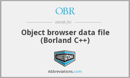 OBR - Object browser data file (Borland C++)