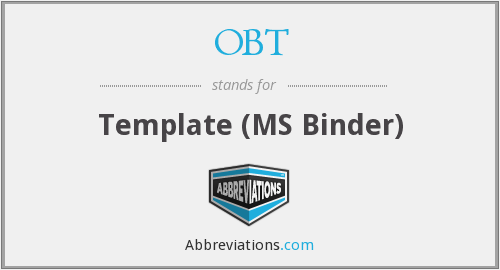 OBT - Template (MS Binder)