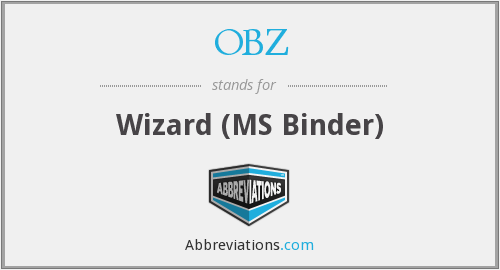 OBZ - Wizard (MS Binder)