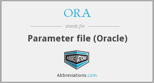 ORA - Parameter file (Oracle)