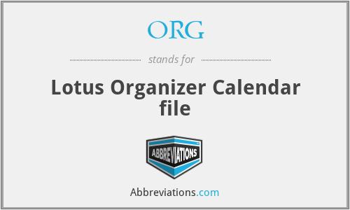 ORG - Lotus Organizer Calendar file