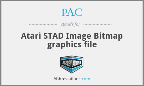 PAC - Atari STAD Image Bitmap graphics file