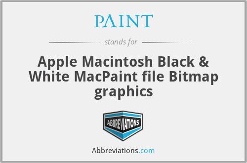PAINT - Apple Macintosh Black & White MacPaint file Bitmap graphics