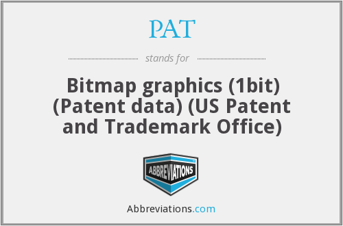PAT - Bitmap graphics (1bit) (Patent data) (US Patent and Trademark Office)