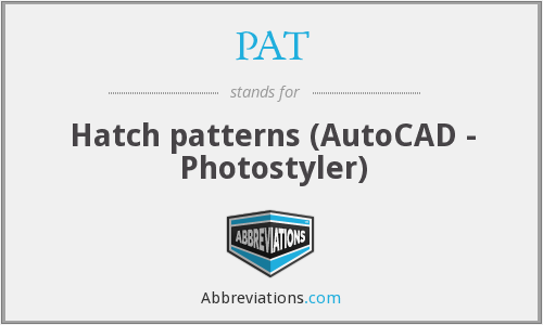 PAT - Hatch patterns (AutoCAD - Photostyler)