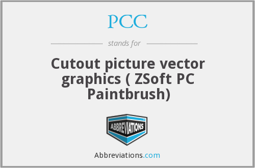 PCC - Cutout picture vector graphics ( ZSoft PC Paintbrush)