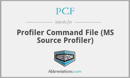 PCF - Profiler Command File (MS Source Profiler)
