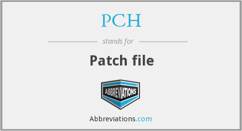 PCH - Patch file