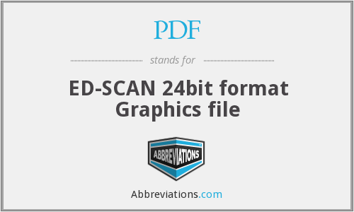PDF - ED-SCAN 24bit format Graphics file