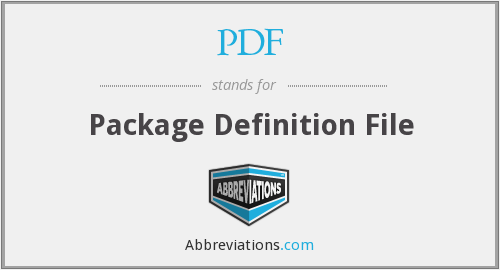 PDF - Package Definition File