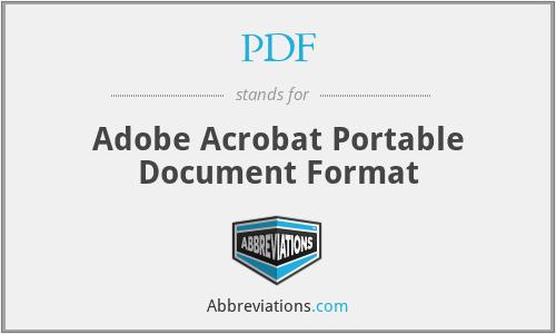 PDF - Adobe Acrobat Portable Document Format